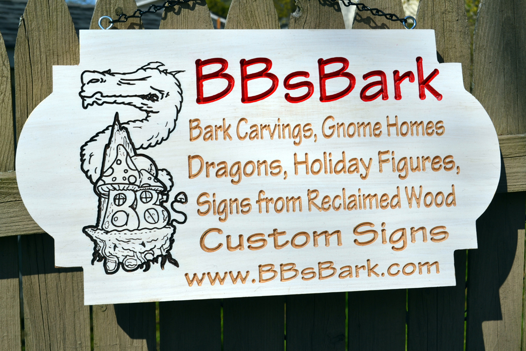 BBsBark Wood Sign